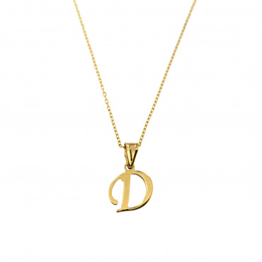 Yellow gold pendant necklace CPG12-D-01