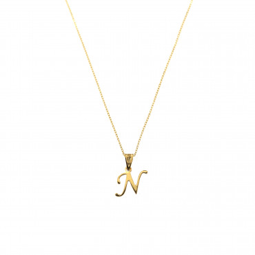 Yellow gold pendant necklace CPG12-N-01