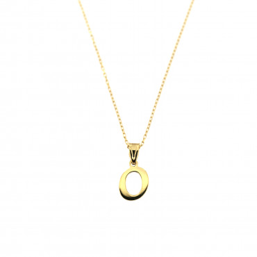 Yellow gold pendant necklace CPG12-O-01