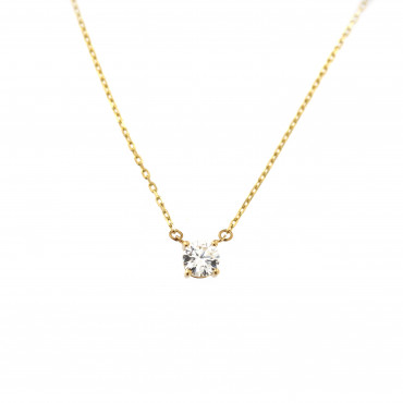 Yellow gold pendant necklace CPG13-03