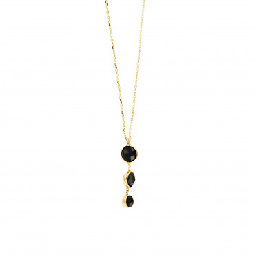 Yellow gold pendant necklace CPG14-03