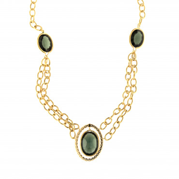 Yellow gold pendant necklace CPG15-01