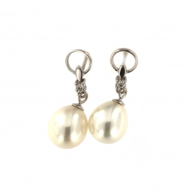 White gold pearl earrings BBBR03-03-02