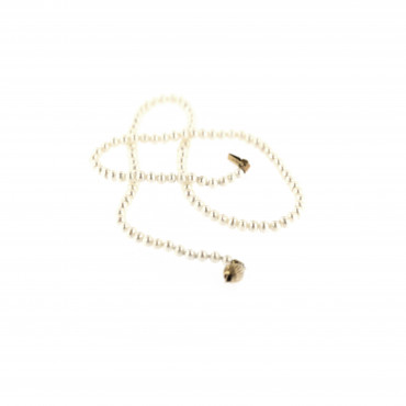 Yellow gold pearl strand necklace CPRLG01-06
