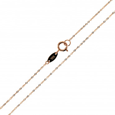 Rose gold chain CRCAB-0.45MM