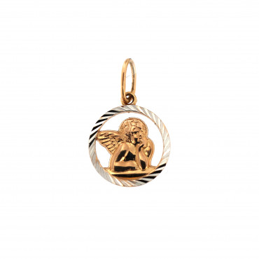 Rose gold angel pendant ARA02-08