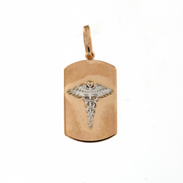 Rose gold tag pendant ARPL04-02