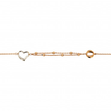 Rose gold anklet EK04-01