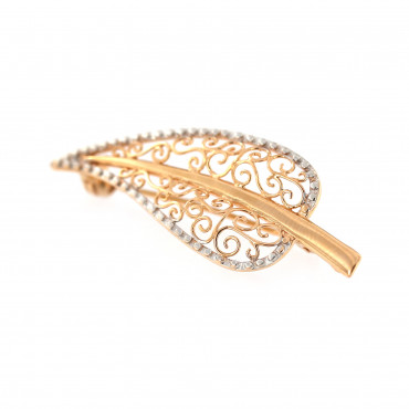 Rose gold brooch FRS05-06