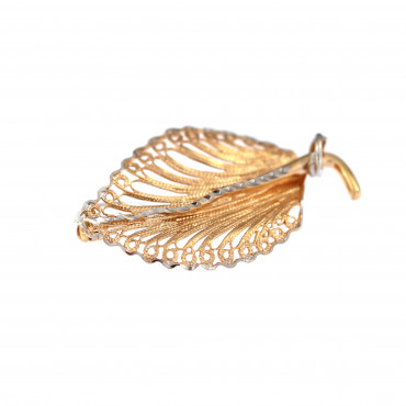 Rose gold brooch FRS05-11