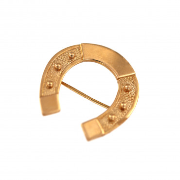 Rose gold brooch horseshoe FRS05-13