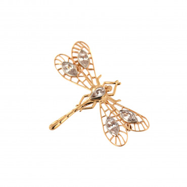 Rose gold brooch dragonfly FRS06-02