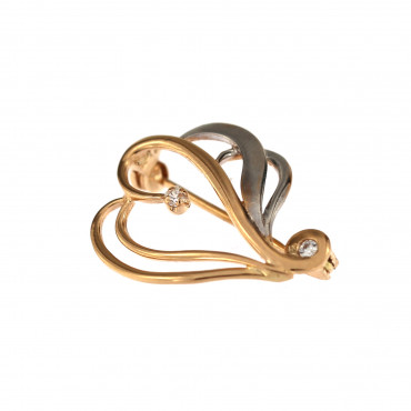 Rose gold brooch FRS06-03