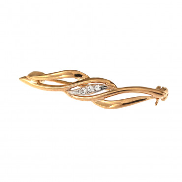 Rose gold brooch FRS06-04
