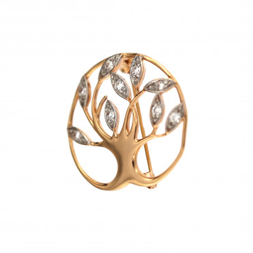Rose gold brooch FRS06-05