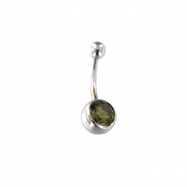 White gold belly ring GB03-01
