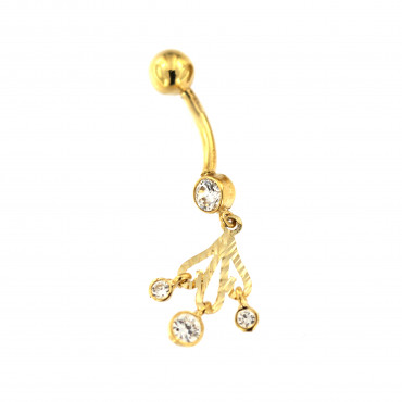 Yellow gold belly ring GG01-04
