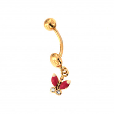 Yellow gold belly ring GG01-06
