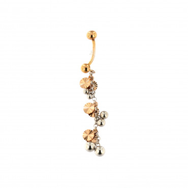 Rose gold belly ring GR02-03
