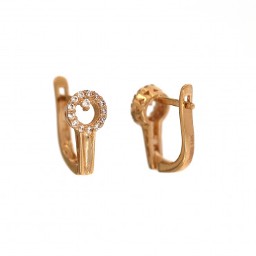 Rose gold zirconia earrings BRA04-01-02