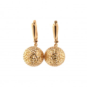 Rose gold drop earrings BRA05-07-02