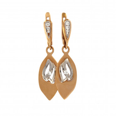 Rose gold drop earrings BRA05-09-01