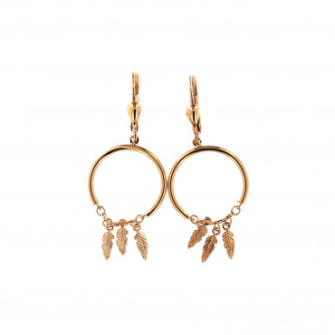 Rose gold drop earrings BRA05-10-02