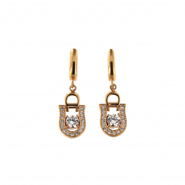 Rose gold drop earrings BRA05-12-01