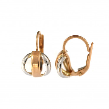 Rose gold earrings BRA06-13-04