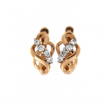 Rose gold earrings BRA08-01-04